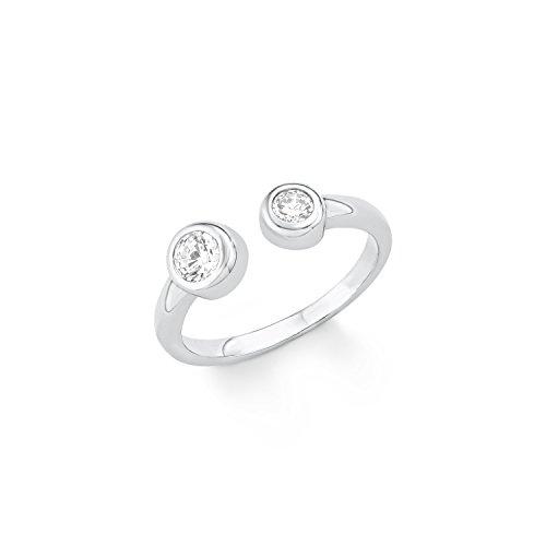 s.Oliver Damen-Ring 5 mm 925 Silber rhodiniert Zirkonia weiß Gr. 52 (16.6) - 566834