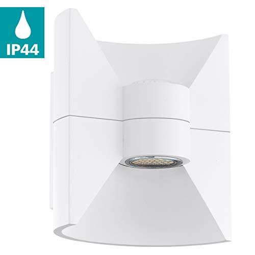 Preisvergleich Produktbild EGLO LED Außen-Wandlampe Redondo,  2 flammige Außenleuchte,  Wandleuchte aus Aluguss,  Farbe: Weiß,  IP44