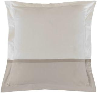 Essix - Taie d'oreiller Toi & Moi Percale de Coton Meringue/Gris Perle 50 x 70 cm