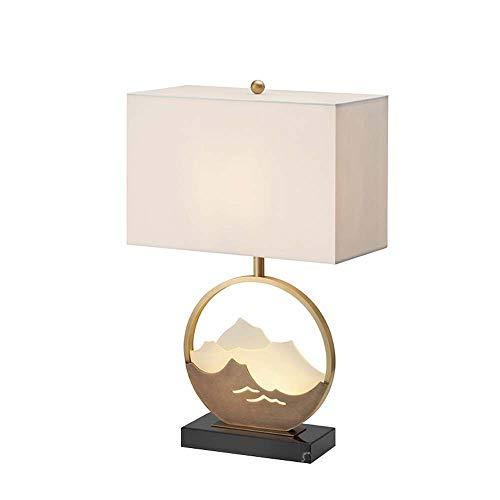 TYXL Lámpara de mesa Mármol De América Tabla Poste De La Lámpara Moderna Minimalista Del Hotel Salón Dormitorio 40x62cm Estudio Lámpara De Cabecera Suave Modelo De Habitaciones