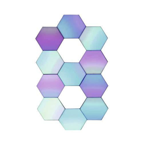 Paneles de luz inteligentes Iluminación de Pared de Paneles de Luces Táctiles Lámpara LED Hexagonal de Panal Con Control Remoto Color RGB para Decoración de Paredes E Iluminación Interior (Paquete De