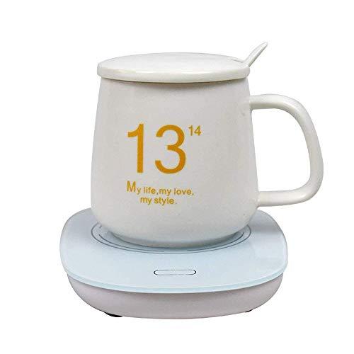 YFGQBCP Coffee Warmer Taza de café Caliente, Puede Mantener la Temperatura a 131F ° F / 55 ° C, Caja de Seguridad for Office y Home Aislamiento de café