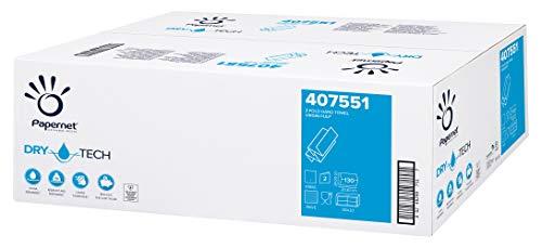Papernet 407551 Asciugamano Piegato Z Dry Tech - 2 veli- 130 servizi a fascetta - collo da 20 fascette (2.600 servizi totali)