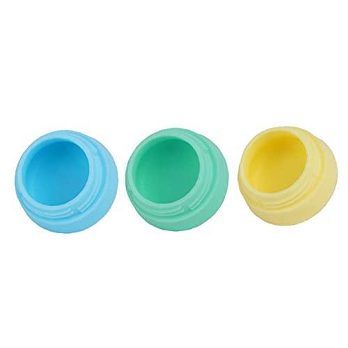 GGOOD Pack de 3 Silicona Viaje de Maquillaje recipientes Impermeables Crema tarros cosméticos recipientes con Tapas Selladas Squeezable Neceser para el champú acondicionador de la loción 10ml 0 64 oz