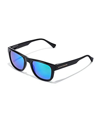 HAWKERS TOX-Diamond Black Emerald Gafas de sol, Negro/Turquesa, One Size Unisex Adulto
