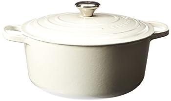 Le Creuset Enameled Cast Iron Signature Round Dutch Oven 7.25 qt White