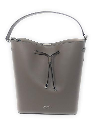 Lauren Ralph Lauren Mini Debby Leather Drawstring Bucket Bag