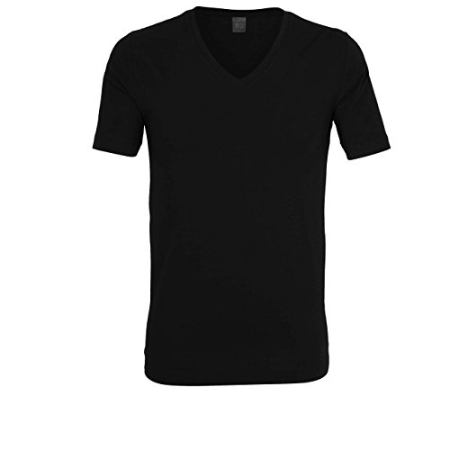 Bugatti Herren T-Shirt, Kurzarm, Modal, Single Jersey, schwarz, Uni 6