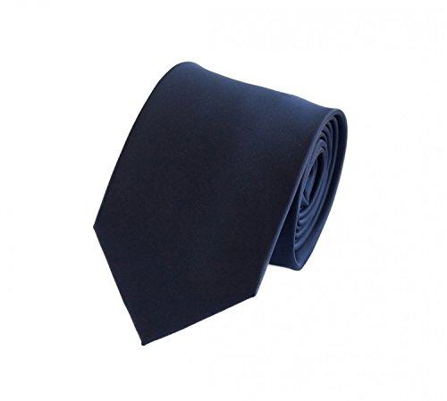 Fabio Farini - Elegante Herren Krawatte unifarben in 8cm Breite in verschiedenen Farben für jeden Anlass wie Hochzeit, Konfirmation, Abschlussball Pflaumenblau