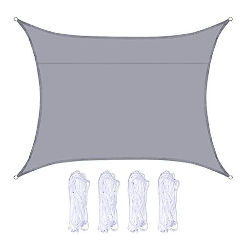 WEARRR Sombrilla Impermeable de la Sombra de la Sombra de la Sombra de la Sombra de la Sombra con Cuatro Cuerdas Toldo Significios de Vela Toldos al Aire Libre Playa Senderismo 3 * 4M (Color : Gray)