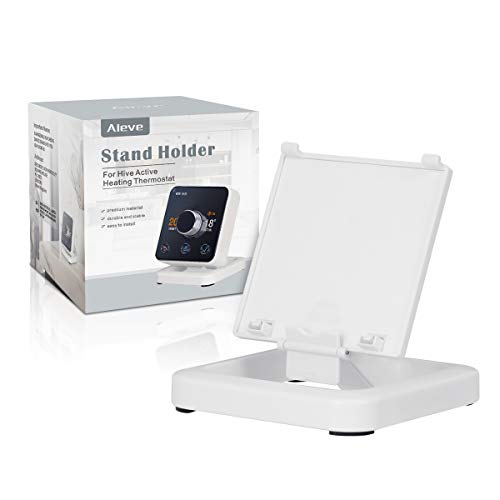 AIEVE Ständer Halterung Halter Zubehör kompatibel mit Hive Active Heizung Thermostat (weiß, ohne Heizung Thermostat)
