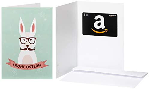 Amazon.de Geschenkkarte in Grußkarte - 15 EUR (Hipster-Hase)