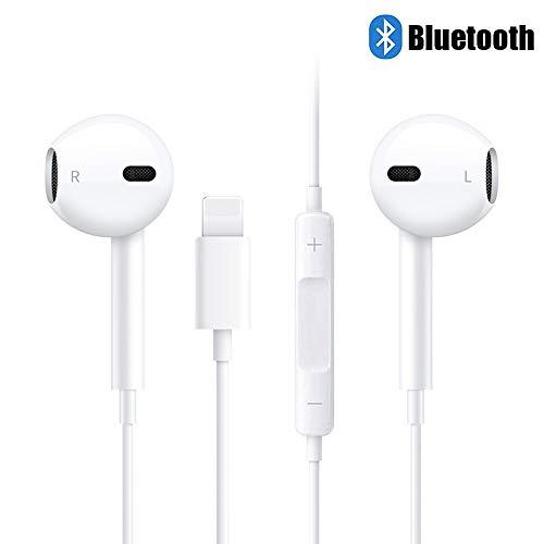 Kopfhörer mit Mikrofon, Victorist Ohrhörer Kabel, Earphones mit Lautstärkeregler Headset Kopfhörer kompatibel mit iPhone7/7Plus/8/8Plus/X/XS Max/11/11Pro usw -Weiß