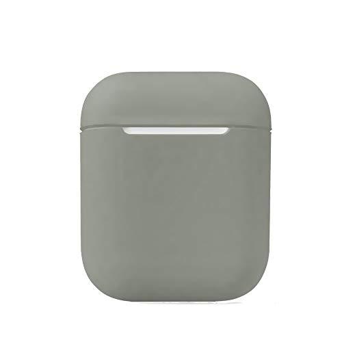 Yaoket Custodia Cover Compatibile per AirPods, Custodia in silicone Accessori Set di protezione con clip Holder/Cinturino/ganci per l'orecchio (Grigio)