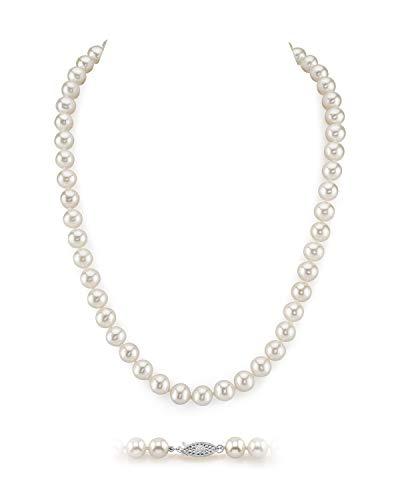 Collier de perles rondes de culture d'eau douce blanches 9-10mm - 0