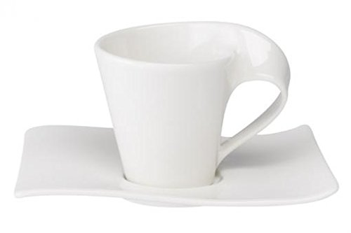 Villeroy & Boch NewWave Espresso-Set 2-teilig Premium Porzellan, weiß