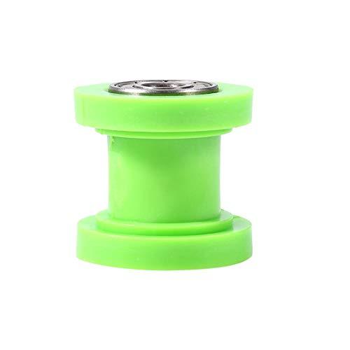 KIMISS Tensor deslizante de rodillo de cadena, 10 mm Tensor de rodillo de cadena Guía Guía de rueda Pit Dirt Mini Bike Moto Atv(Verde)