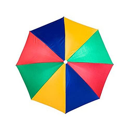 happygirr Sombrero paraguas, resistente al agua, protección solar, resistente a los rayos UV, para pesca de pesca, multicolor