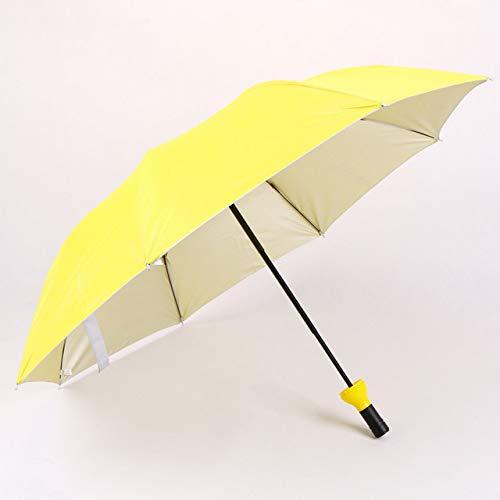Nuovo Ombrello Creativo per Bottiglia da Vino da Donna 3 Mini Ombrello Pieghevole a Pioggia Solare Ultravioletta per Regalo da Uomo per Donna - Giallo, 1