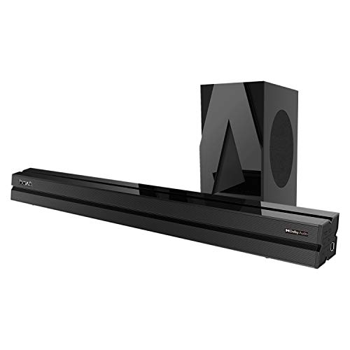 boAt AAVANTE Bar 1700D 120W 2.1 Channel Bluetooth Soundbar with Dolby Audio, Wired Subwoofer, Multiple Connectivity Modes, Entertainment Modes, Bluetooth V5.0(Premium Black)