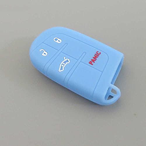 LZZCTB Cubierta de la llave del coche, llavero inteligente de silicona de rana, carcasa protectora de entrada sin llave, caja de botón, ajuste para Jeep para Dodge para CHRYSLER