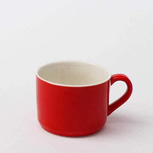 Color creativo simple esmaltado Taza de cerámica de gran diámetro del desayuno Taza de café de la taza de café de la leche