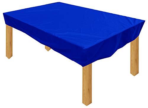 KaufPirat Premium Housse de Protection Bâche Imperméable 340x100x15 cm Couverture de Table de Jardin Housse protectrice pour mobilier de Jardin en Polyester Oxford Bleu