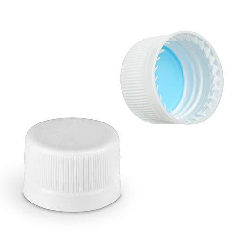 28mm Plastic Screw Caps Tamper Evident Reseal Caps for Lab Glass Bottles, PET Bottles, Soda Bottles (Bag of 100 Caps)