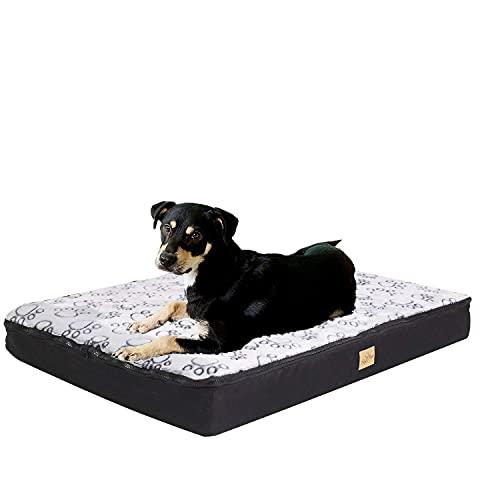 BingoPaw Cama para Perro Ortopédica, Cama Impermeable y Lavable para Perro 80 x 60 x 8cm Cómoda Sofá con Cojín Desmontable Cama Suave para Macotas Perros Gatos Tamaño L