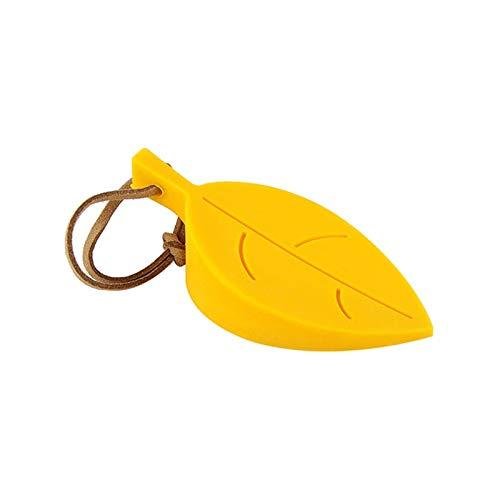 Forma de hoja Door Sper Safe Child Anti-pellizco Door S Card Silicona Anti-lockout Door Accessories Door Sper Wedge-Yellow