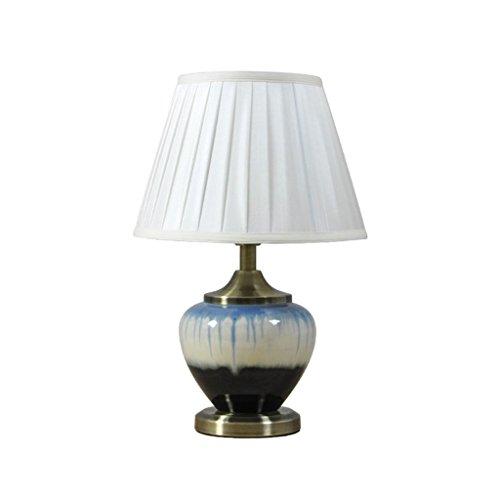 Guo Shop- Lampe de table en céramique simple chinois moderne chambres à coucher lampes de chevet (Couleur : A)