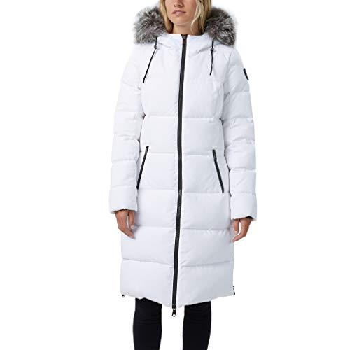 Pajar Women's Down Coat Parka Jayde (White) (L)