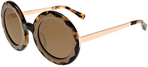 Occhiali da Sole Linda Farrow MARKUS LUPFER 11 TORTOISE SHELL TAUPE Tortoise Shell Taupe Rose Gold/Light 52/30/140 donna