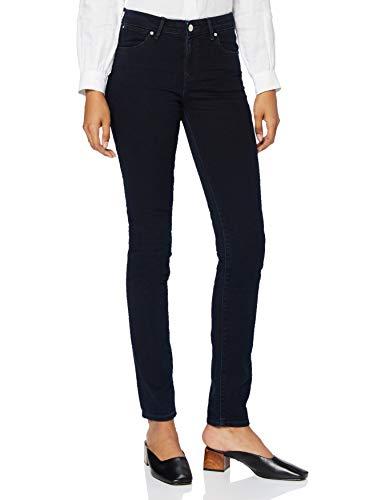Wrangler Damen Slim Jeans, Blau (Blueblack), W31/L30