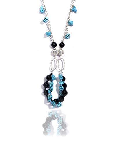 VintFlea Auténticas piedras preciosas Megnatic desmontable collar pulsera conjunto para mujer