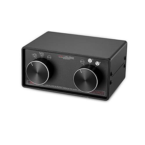 Nobsound Little bear mc3 3-in-3-out xlr convertitore stereo bilanciato / rca selettore audio scatola di divisione splitter preamp passivo commutatore da xlr a rca