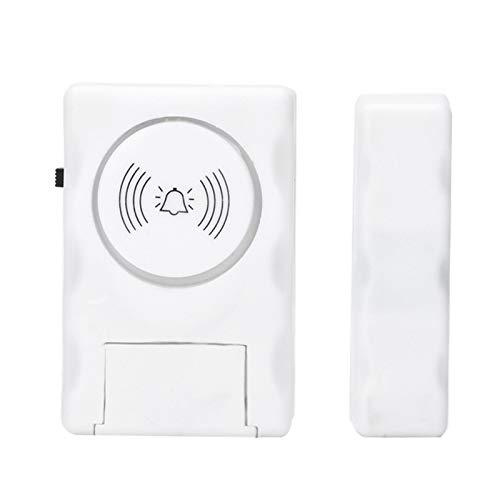 SALALIS Sensor magnético Ventana Puerta Entrada Seguridad Inalámbrico para antirrobo con Control de interruptores