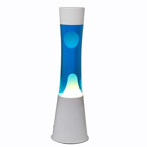 I-Total - Lámparas de lava Magma 40 CM (Azul / Blanco)