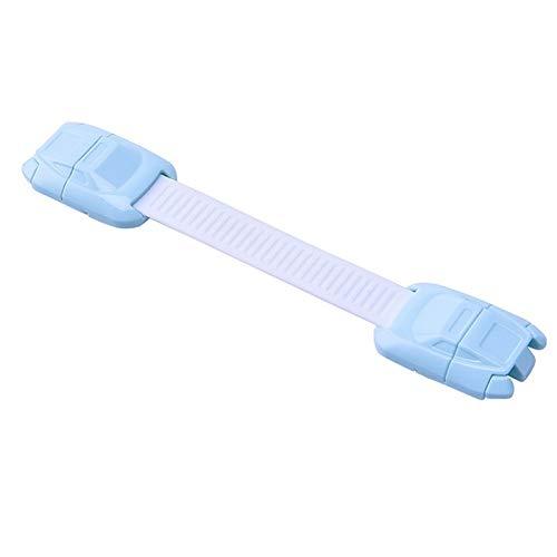 Hyoch kinderbeveiliging, 8 stuks baby-veiligheidssloten met verstelbare riem voor kinderen, babylocks, keukenkasten, lades, apparaten/koelkast, BB7038BL