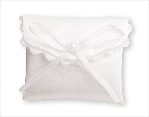 the Healing Corner First Holy Communion White Purse Rosary Bow Pearls