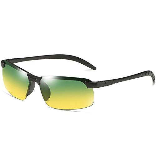 WJJH Gafas de Sol polarizadas Que cambian de Color Las Gafas de Sol de los Hombres Que conducen conduciendo el día y Las Gafas de Sol de la Noche,D