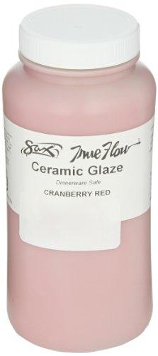Sax True Flow Gloss Glaze, Cranberry Red, 1 Pint - 1430120