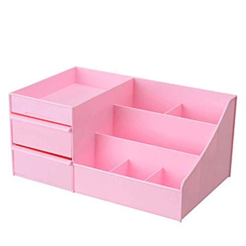 BOX Cosmétiques Boîte de Rangement de Type Tiroir de Bureau En Plastique Rouge À Lèvres Bijoux Soins de La Peau Produits de Stockage D'Affichage Boîte,Rose