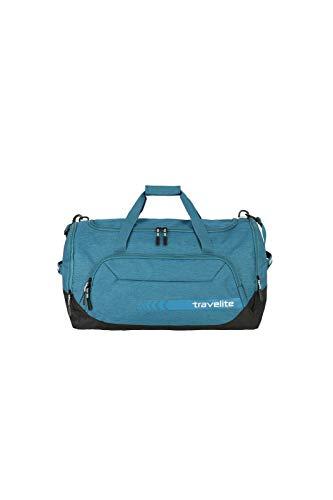 travelite große Reisetasche Größe L, Gepäck Serie KICK OFF: Praktische Reisetasche für Urlaub und Sport, 006915-22, 60 cm, 73 Liter, petrol (türkis)