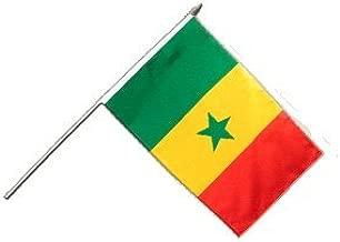 VVM Tech Motif drapeau du S/én/égal Imprim/é en m/étal chrom/é rectangulaire Porte-cl/és avec bo/îte cadeau gratuit/ /0044