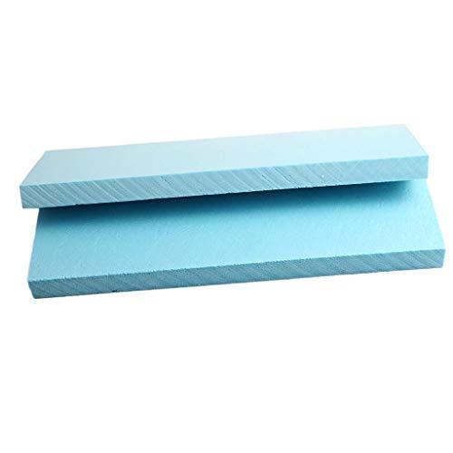 Homyl 5pcs Panneau de Mousse de Haute Densité Polystyrène - 29.5x10x2 cm - Bleu