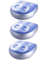 FLAMEER Jacuzzi Spa Booster Zitkussen Opblaasbaar voor Hot Tub Zwembad PVC Zuigen