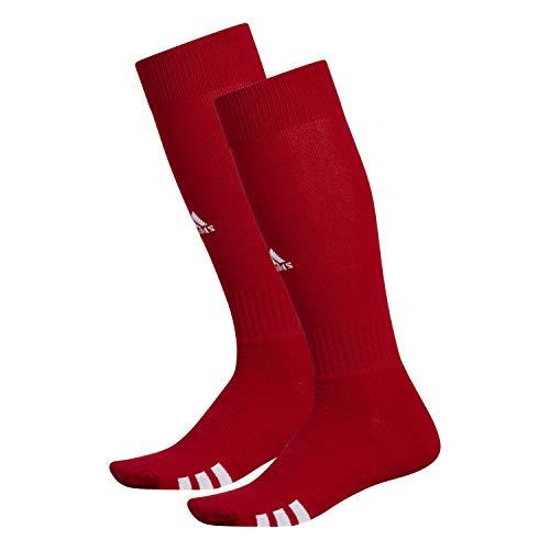 adidas Unisex Rivalry Field OTC Socks (2-Pair), University Red/ White, Medium
