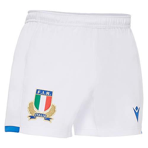 Macron 58122262 FIR M20 Pantaloncini Gara Home Sr, Bianco, M