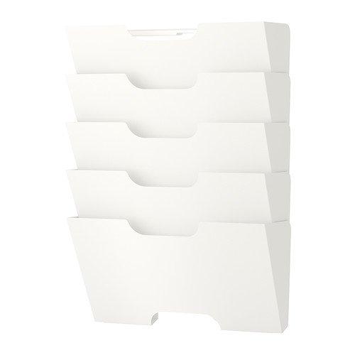 IKEA KVISSLE Zeitungshalter für die Wand; in weiß